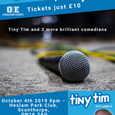 Comedy event Heslam Park Club, Scunthorpe, October