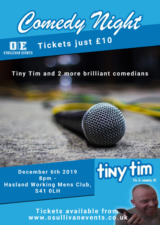 Comedy event Hasland Working Mens Club Chesterfield