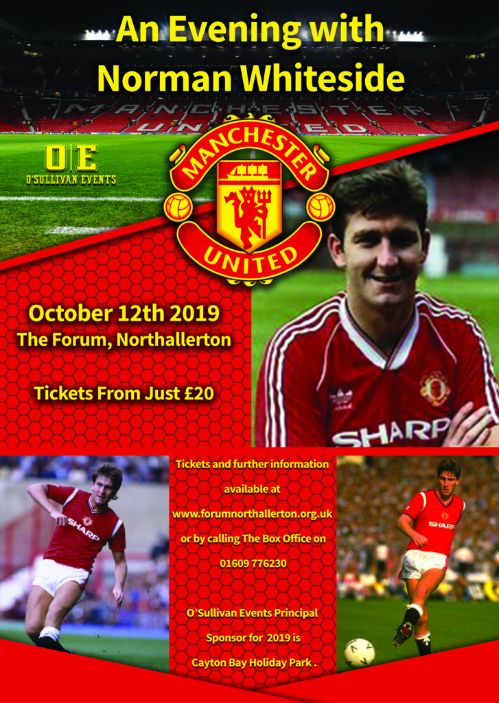 An evening with Norman Whiteside, The Forum, Northallerton